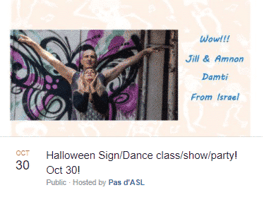 halloween sign/dance party