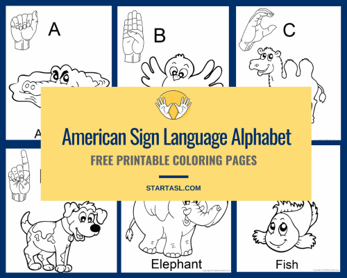 asl alphabet coloring pages
