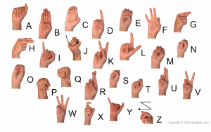 sign language letters wallpaper