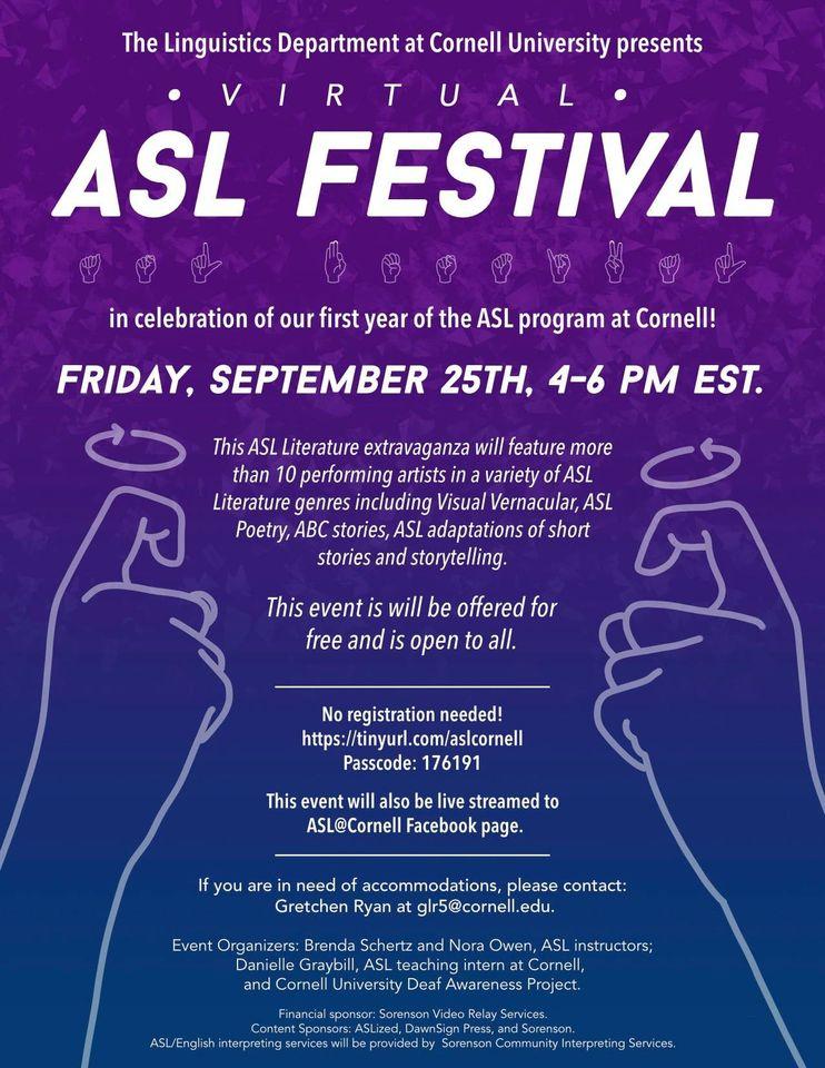 Virtual ASL Festival