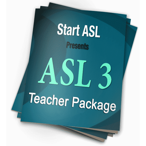 Start ASL 3 Teacher Package
