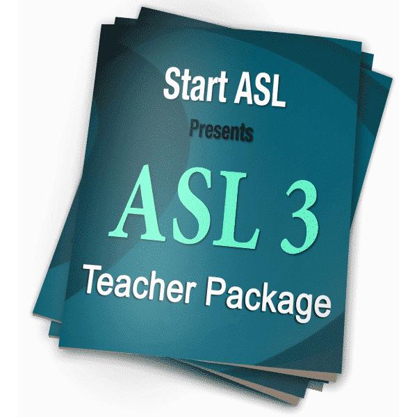 Start ASL 3 Teacher Package