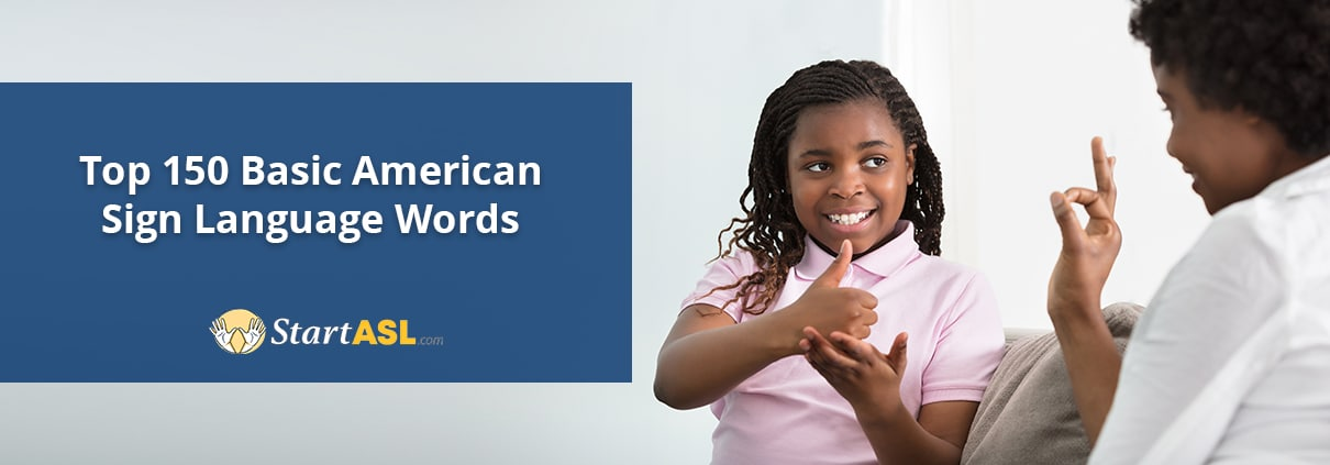 top 150 basic american sign language words title