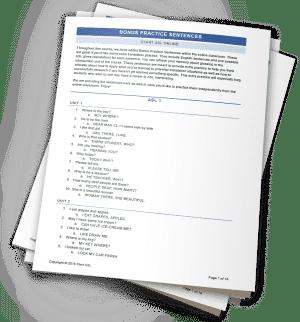 Start ASL Practice Sentence Worksheets