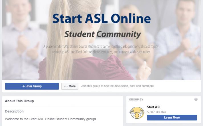 Start ASL Online Student Community