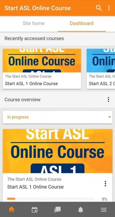 Start ASL Mobile App